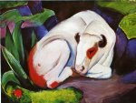 the steer by franz marc painting