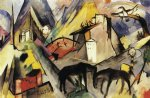 the unfortunte land of tyrol by franz marc painting