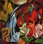 the waterfall by franz marc painting