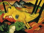 the yellow cow by franz marc painting