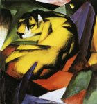tiger by franz marc painting