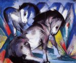 two horses by franz marc painting