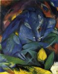 wild pigs boar and sow by franz marc painting