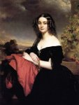 franz xavier winterhalter portrait of claire de bearn duchess of vallombrosa painting