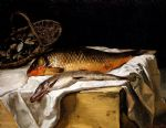 frederic bazille still life with fish painting