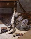 frederic bazille still life with heron painting