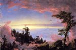 frederic edwin church above the clouds at sunrise painting