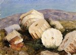 broken column the parthenon athens by frederic edwin church painting