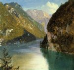 konigsee bavaria by frederic edwin church painting