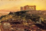 frederic edwin church the parthenon from the southeast painting