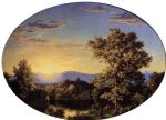 frederic edwin church twilight among the mountains art
