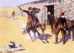 the apaches by frederic remington painting