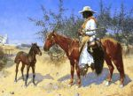 the sentinel by frederic remington painting