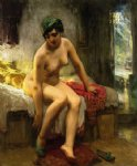 after the bath by frederick arthur bridgeman painting