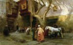 horse paintings - horse market at cairo by frederick arthur bridgeman