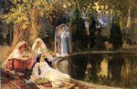 in the garden at mustapha by frederick arthur bridgeman painting