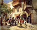 frederick arthur bridgeman marketplace in north africa painting