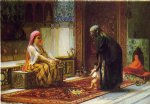 mother and child by frederick arthur bridgeman painting