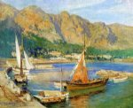 sailboats south of france by frederick arthur bridgeman painting