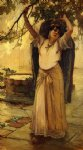 spanish lady by frederick arthur bridgeman painting