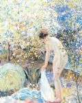 cherry blossoms by frederick carl frieseke painting