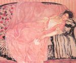 portrait paintings - portrait of madame gely by frederick carl frieseke