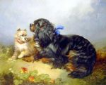 george armfield king charles spaniel and a terrier painting