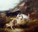 george armfield terriers rabbiting painting