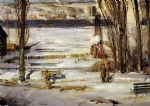 a morning snow by george bellows painting