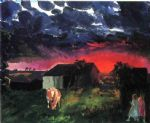 red sun by george bellows painting