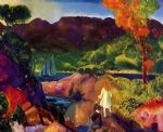 romance of autumn by george bellows painting
