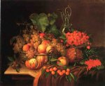george forster paintings - still life with fruit ii by george forster