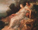 ariadne on the island of naxos by george frederick watts painting