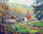george gallo bright day autumn painting