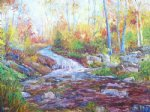 george gallo river in spring painting