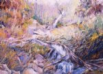 george gallo sand gate waterfall painting