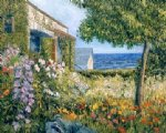george gallo seaside garden painting