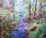 george gallo the creek at phillips mill painting