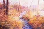 george gallo the creek in april painting
