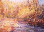 george gallo the creek in doylestown painting
