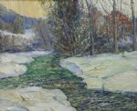 george gallo trout stream painting