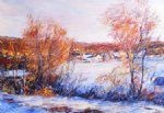 george gallo winter village painting