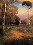 early moonrise florida by george inness painting