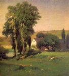 george inness old homestead painting