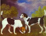 george stubbs hound and bitch in a landscape painting