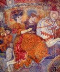 carnival the carousel by georges lemmen painting