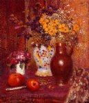 georges lemmen flowers and apples painting 33630