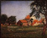 houses at la hulpe by georges lemmen painting