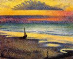 georges lemmen on the beach painting 33641