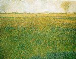 alfalfa fields saint by georges seurat painting